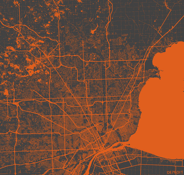 Detroit - Map map maps