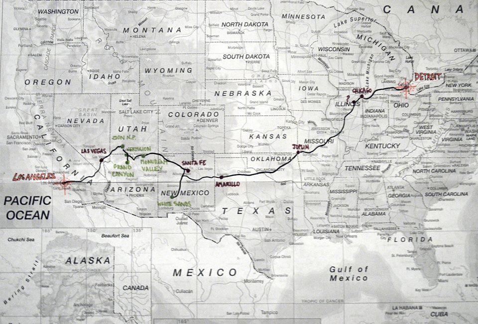 Itinéraire Los Angeles / Détroit