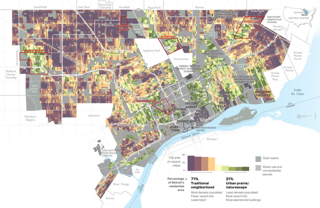 National Geographic - Explore Detroit occupied area map